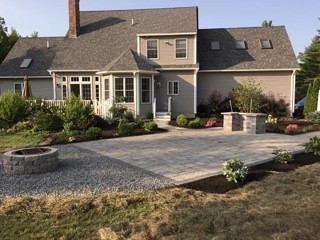 Portsmouth Landscape - Pavers with outdoor Fireplace