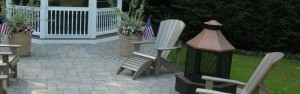 Firepit and Fireplace - Combination of hardscape and softscape. We can install a patio for you.