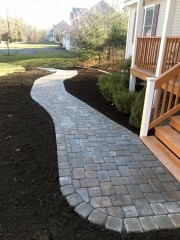 Front Walkway Pavers - Portsmouth Landscaping