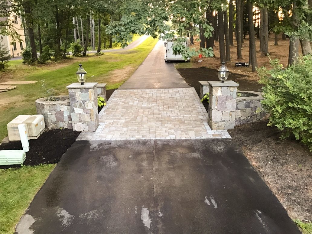 Driveway Entrance - Portsmouth Landscaping