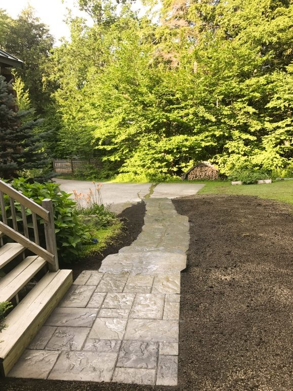 Front Walkway - Pavers - Portsmouth Landscaping