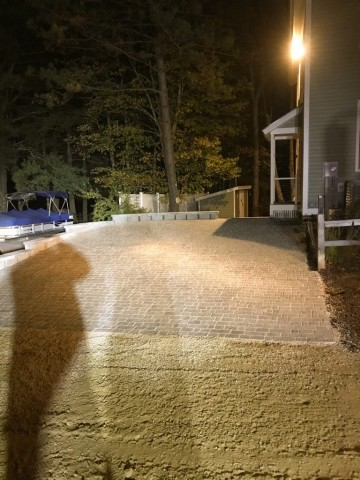 Paver Driveway Complete - Wolfeboro Landscaping